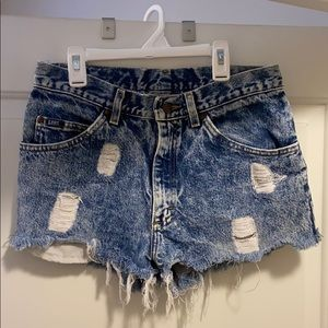 Acid Washed Jean Shorts